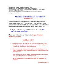 What Prayer Should And Shouldn't Be - Christian Hope Church Home