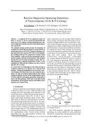 Reactive Magnetron Sputtering Deposition of Nanocomposite Al Si ...
