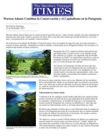 Warren Adams Combina la Conservación y el ... - Patagonia Sur