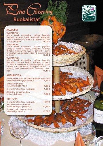 Pyha Catering menu