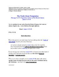The Truth About Temptation - Christian Hope Church Home