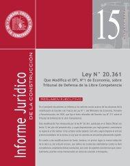 Ley N° 20.361 - Biblioteca - Cámara Chilena de la Construcción