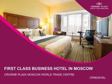 Download Hotel Presentation - Crowne Plaza