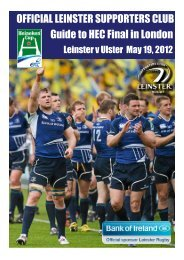 Official leinster suppOrters club Guide to Hec final ... - Leinster Rugby