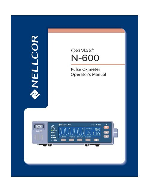 Nellcor N-600 Operator's Manual - Masimo