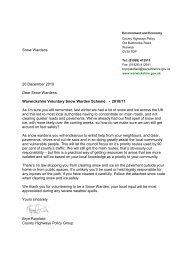 Details of the Snow Warden Scheme - Bidford-on-Avon Parish Council