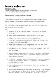 Stratford District Council News Release - Bidford-on-Avon Parish ...