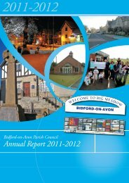 Annual Report 2011-12.indd - Bidford-on-Avon Parish Council