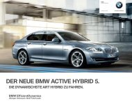DER NEUE BMW ACTIVE HYBRID . - Riller & Schnauck GmbH