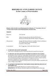 Mon 17 December 2012 - Bidford-on-Avon Parish Council