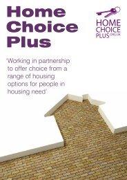 Home Choice Plus Booklet - Bidford-on-Avon Parish Council