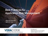 Application Risk Management - San Francisco Bay Area ISSA Chapter