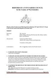 Mon 30 April 2012 - Bidford-on-Avon Parish Council