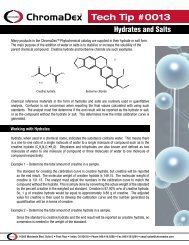 Tech Tip 0013: Hydrates and Salts