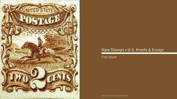 Rare Stamps • U.S. Proofs & Essays