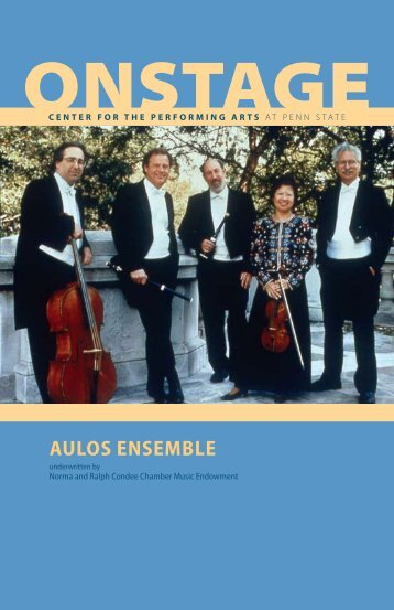 AULOS ENSEMBLE - Center for the Performing Arts