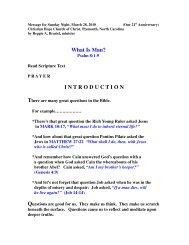 What Is A Man? - Christian Hope Church Home