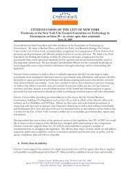 testified - Citizens Union