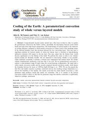 Cooling of the Earth: A parameterized convection study of whole ...