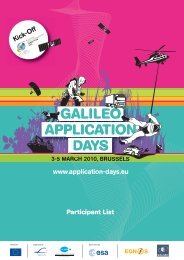 Participant List - Galileo Application Days 2010