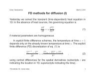 FD methods for diffusion (I) - dynamicearth.de
