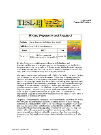 tesl thesis A list of links to essays by former tefl/tesl ma students in the department of english language and applied linguistics at the university of birmingham.
