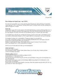 20. juni 2012 Kære deltagere på AquaCamp – uge 32 2012,