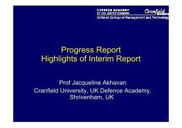 Highlights of UK Interim Report - EU-Excert