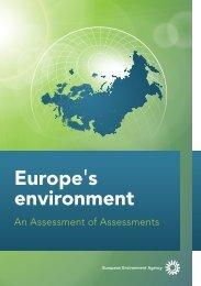 Europe's environment - An assessment of assessments ... - Hispagua