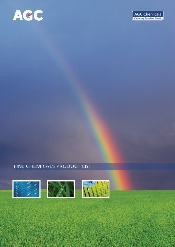 FINE CHEMICALS PRODUCT LIST - AGCCE
