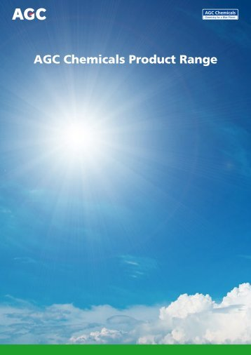 AGC Chemicals Product Range - AGCCE