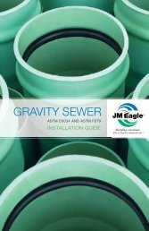 Gravity Sewer Installation Guide - JM Eagle