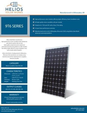 Helios 9T6 Series modules - Sundeavor