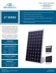 Helios 6T Series Specs - Sundeavor