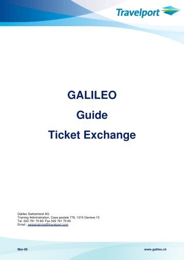 Galileo quick reference from sabre to galileo 09 index.