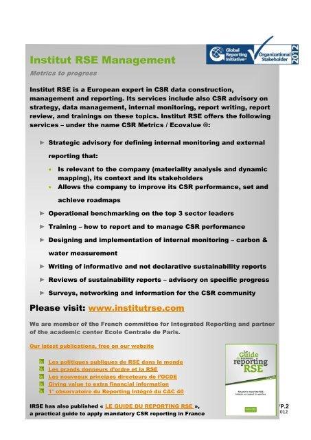 Institut RSE Management M