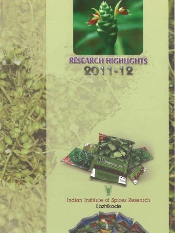 ii - Indian Institute of Spices Research