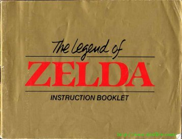 Zelda Manual - Gamesb00k