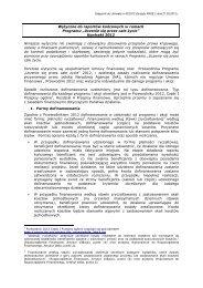 Wytyczne do Raportów końcowych w ramach Programu