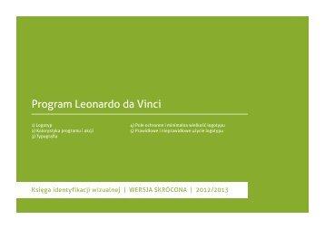 Fragment księgi identyfikacji wizualnej - Leonardo da Vinci