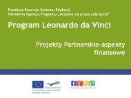 Narodowa Agencja - Leonardo da Vinci