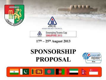 Sponsorship Proposal Ncsu Sheraton Hotel