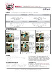WORKOUT mOVEmEnT STAnDARDS - CrossFit