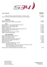 Salona 34 price list - Salona Yachts