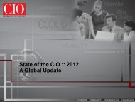 State of the CIO :: 2012 - CIO.com