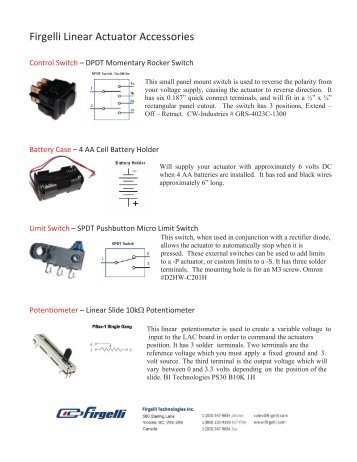 Firgelli Linear Actuator Accessories - Firgelli Technologies