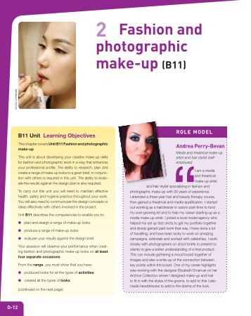 2 Fashion and photographic make-up (B11) - Cengage Learning