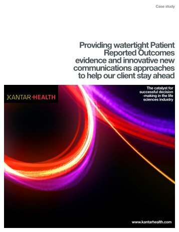 Providing watertight Patient Reported Outcomes ... - Kantar Health