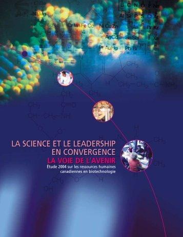 La science et le leadership en convergence - BioTalent Canada