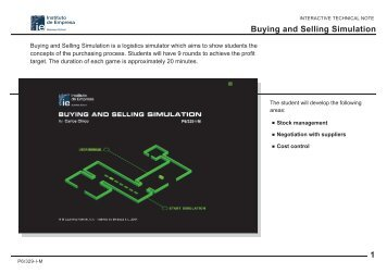 1 Buying and Selling Simulation - IE. Multimedia Documentation